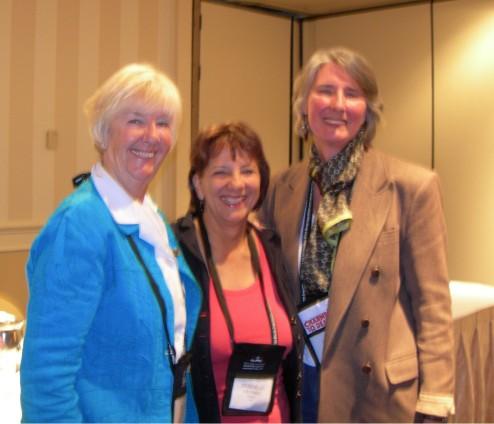 Rhys Bowen, Deborah Crombie, and Louise Penny