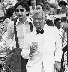 A young Michael Tilson Thomas with Leonard Bernstein