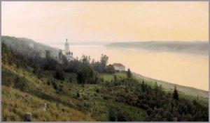 Evening the Golden Plyos, by Isaak Levitan