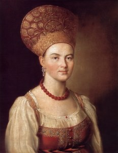 Portrait of a Peasant Woman in a Russian Costume, 1784