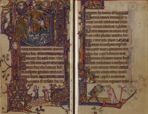 Pages from the Macclesfield Psalter