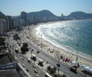 The beach at Copacabana