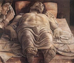 Lamentation Over the Dead Christ (1470-75), Andrea Mantegna