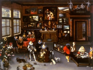 The Archdukes Albert and Isabella Visiting a Collector's Cabinet - Jan Brueghel the elder (Flemish, 1568-1625) and Hieronymus Francken II (Flemish, 1578-1623)