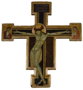 Crucifix with Mourning Virgin and St. John the Evangelist - School of Florence (Italian, active ca. 13th century)