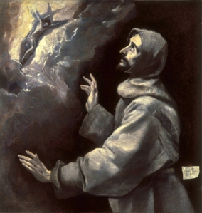 saint Francis Receiving the Stigmata -  El Greco (Greek, 1541-1614)