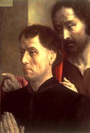 Portrait of a man at Prayer with St. John the Baptist - Hugo van der Goes (Netherlandish, active ca. 1440-1482)