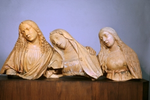 The Mourning St. John the Evangelist, Virgin Mary, and St. Mary Magdalene - Anonymous (Italian)