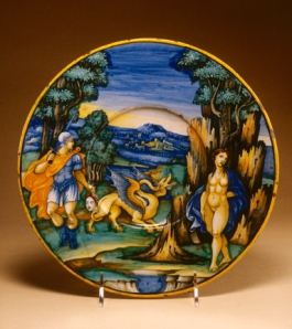 Plate with Perseus and Andromeda - Milan Marsyas Painter (Italian, active 1525-1535)