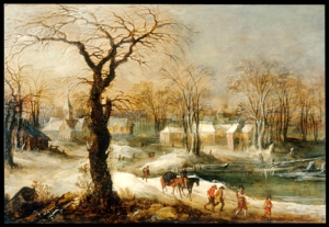 Winter Landscape - Joos de Momper the younger (Flemish, 1564-1635)