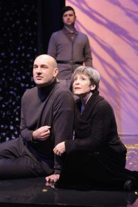 Daniel Stewart as Leontes and Naomi Jacobson as Paulina