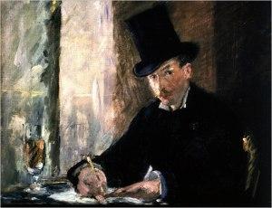Chez Tortoni,  by Edouard Manet