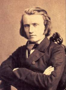 The young Brahms, in 1853