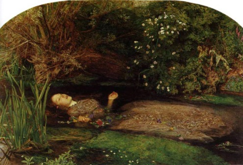 Ophelia, by John Everett Millais, 1852