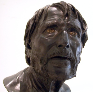 """Pseudo-Seneca,"" now thought to be a bust of Hesiod"
