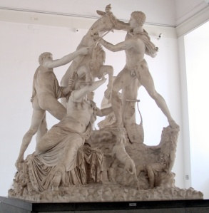 the Farnese Bull,from the second century BC