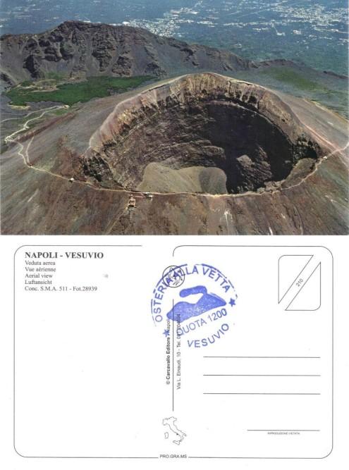 Vesuvio Postcard Front & Back