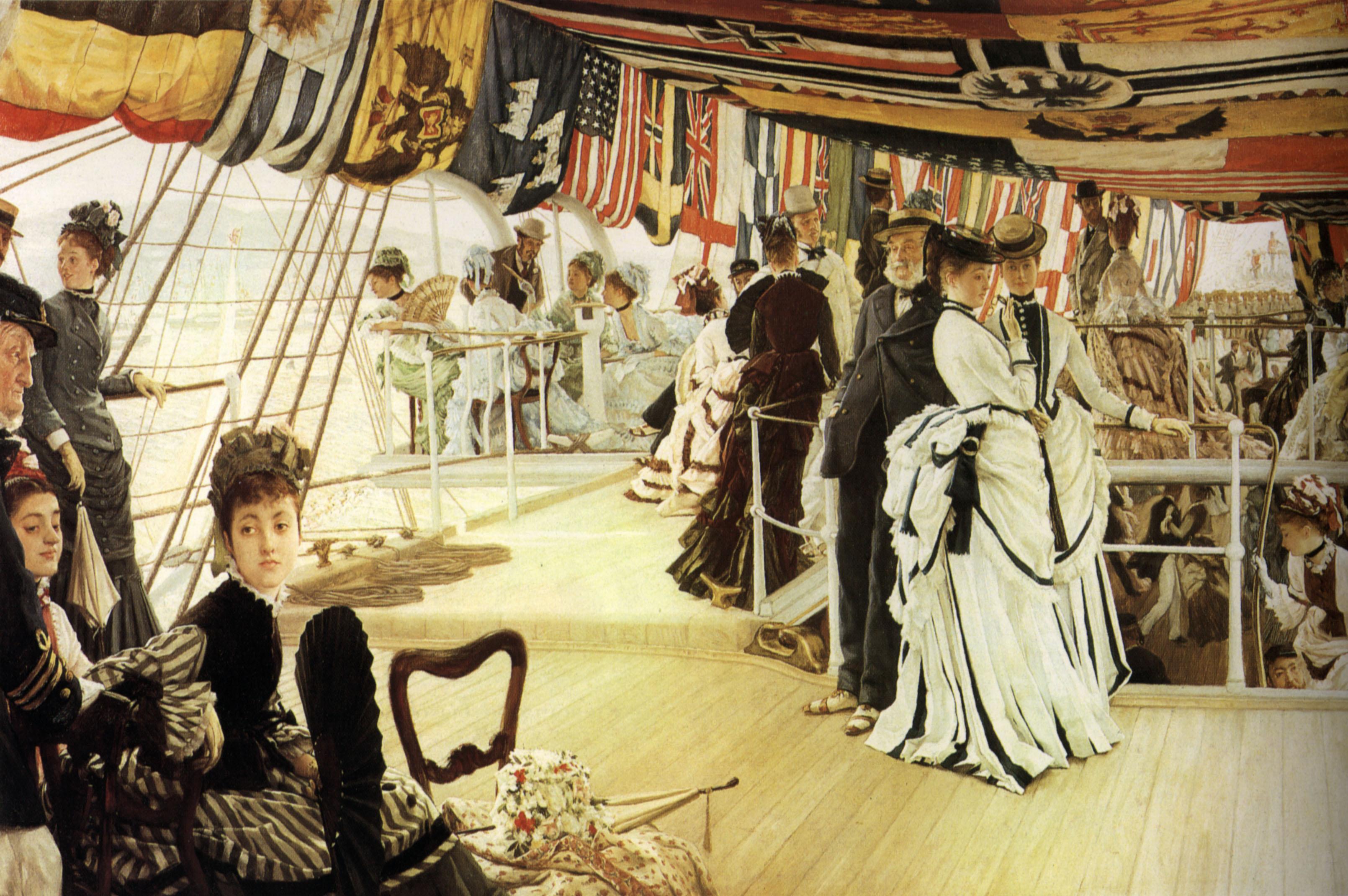 Madox Brown Work James Tissot Ball On Shipboard