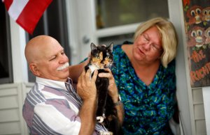 Holly, reunited with her grateful owners