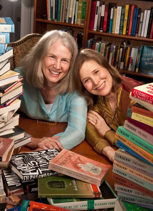 Ann Patchett, right, and partner Karen Hayes at Parnassus Books