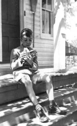 John Updike, age 9, in1941. This photo, was taken by t he author's mother.