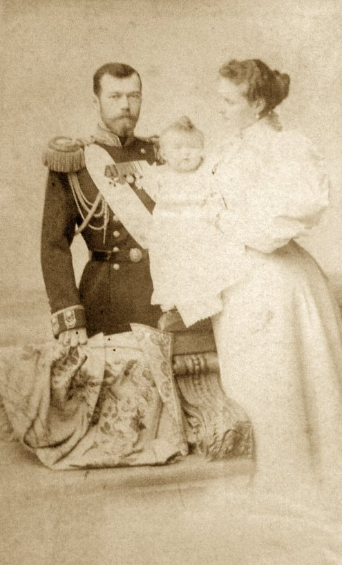 Czar Nicholas, Empress Alexandra, aand their daughter Olga, 1896