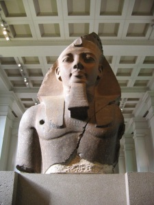 The 'Younger Memnon' statue of Ramesses II in the British Museum, thought to have inspired the poem