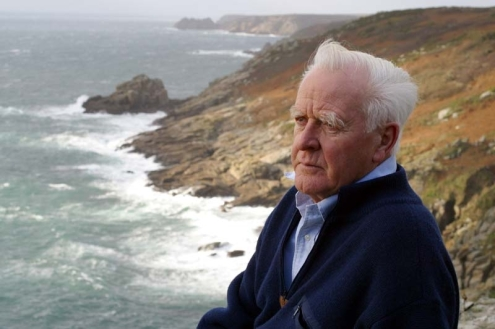 "John LeCarre in Cornwall, where he now resides: ""I live on a Cornish cliff and hate cities."""