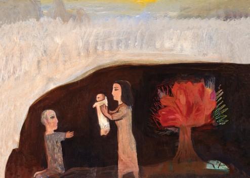 Nstivity with Burnning Bush, by Albert Herbert