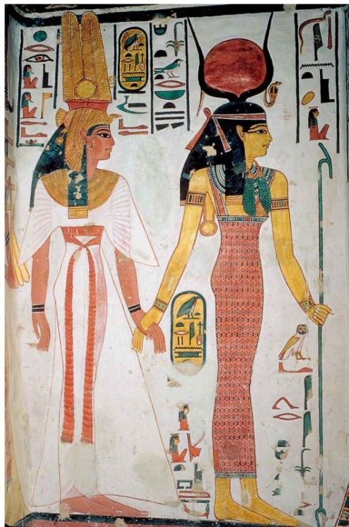 Queen Nfertari and the Goddess Isis