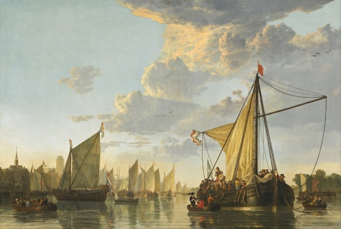 The Maas at Dordrecht - Aelbert Cuyp