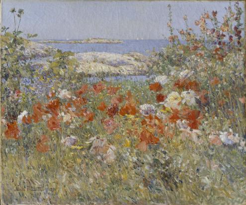 Celia Yhaxter's Garden by Childe Hassam, 1890