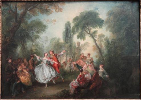 La Camargo dancing , by Nicolas Lancret
