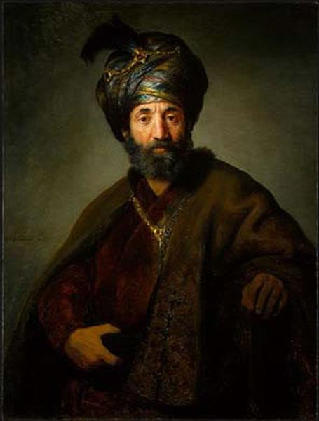 Man in Oriental Costume - Rembrandt