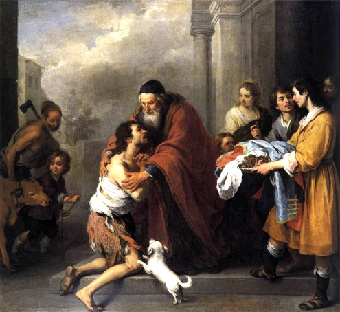 Return of the Prodigal  - Bartolomé Esteban Murillo