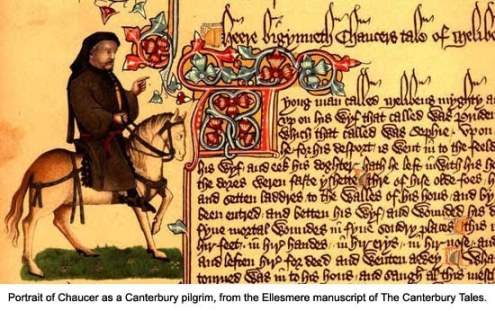 Chaucer on horseback