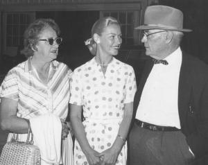 Joan Robinson Hill, champion equestrienne, with the parents who adored her....