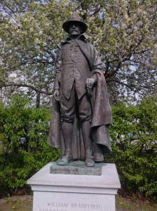 Statue of William Bradford in Plymouth, Mass.