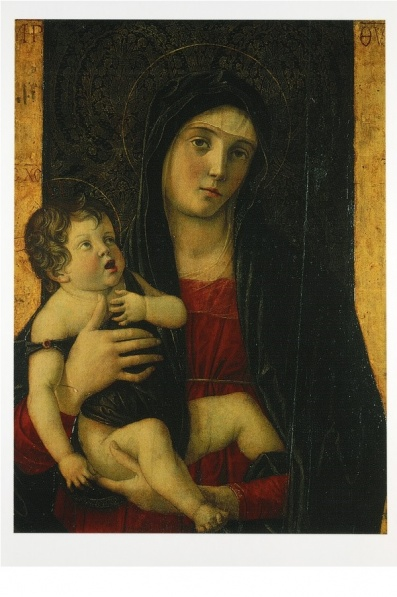 Madonna with Child, Giovanni Bellini ca 1485. Stolen - for the third time! - in 1993; present whereabouts unknown p. 9
