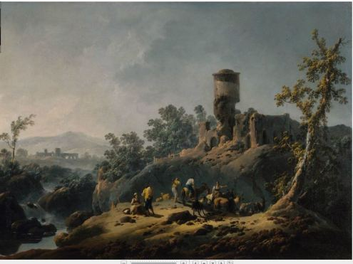 Jean Pillement: Landscape with Ruin
