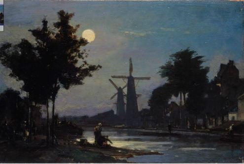 Jongkind Moonlight on the Canal