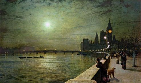 Relfections on the Thames John Atkinson Grimshaw
