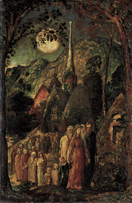 Coming home from evening service Samuel Palmer