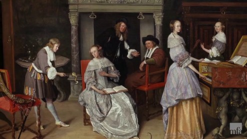 Fantasy Interior with Jan Steen and the Family of Gerrit Schouten, by Jan Steen