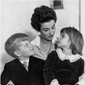 Babe Paley with her children. One could be forgiven for forgetting that she had any, so little do they figure in her daily life.