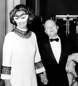 Capote with the ball's guest of honor, Katharine Graham of the Washington Post