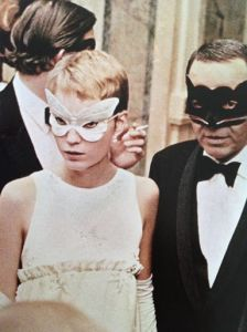 Mia Farrow and Frank Sinatra, recently married