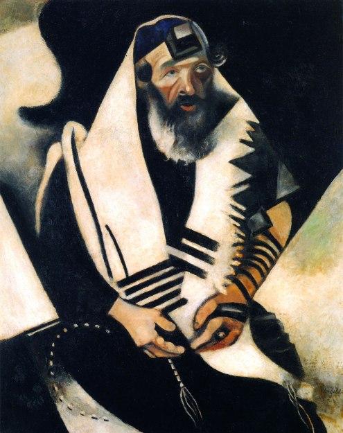 Jew praying, by Marc Chagall
