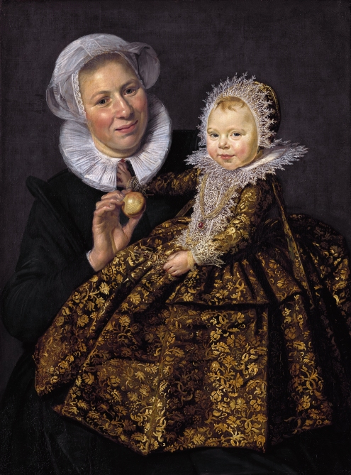 Catharina Hooft and her nurse, by Frans Hals