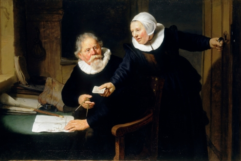 Shipbuilder and his wife, by Rembrandt
